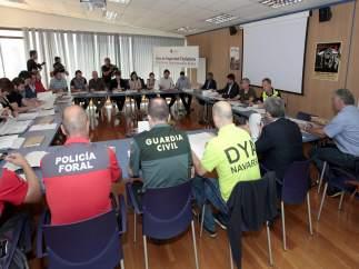 Reunión de la Junta Local de Protección Civil de Pamplona