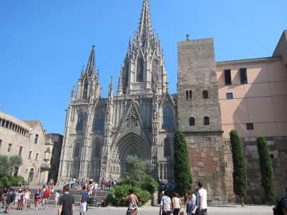Turistas en Catedral de Barcelona