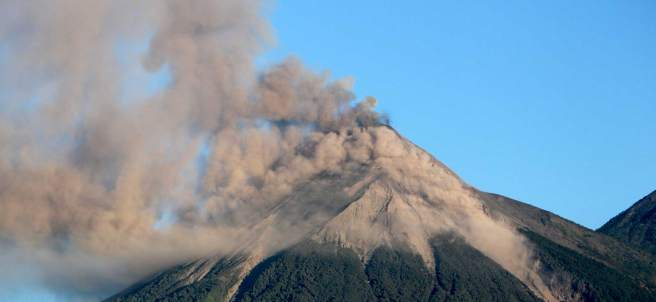 Volcán de Fuego, en Guatemala