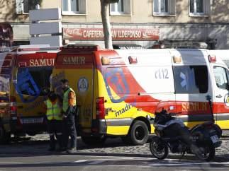 Una imagen del Samur, en Madrid.