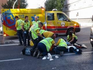 Ciclista atropellado en Carabanchel