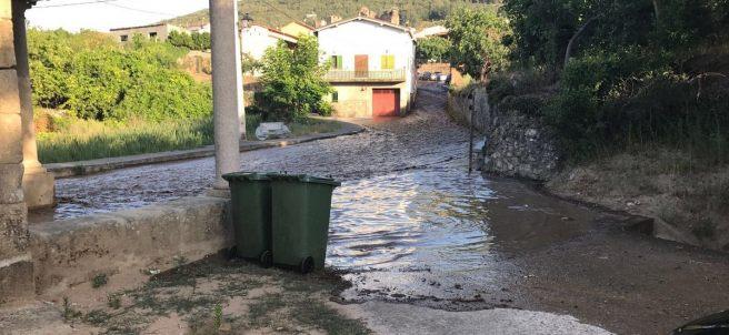 Inundación por la rotura de una balsa de riego