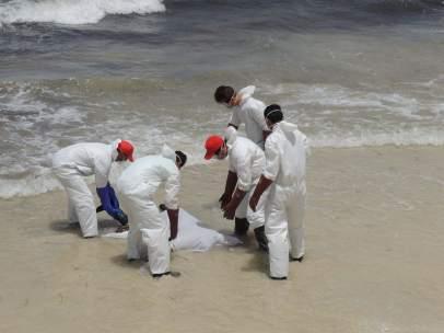 Inmigrante en Libia