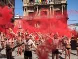 Protesta de PETA y AnimaNaturalis contra las corridas de toros en San Fermín