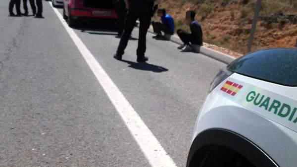 Guardia Civil detiene a los atracadores de un estanco en Barranda