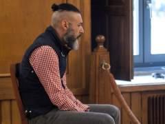 El doble parricida de Moraña, durante el juicio.