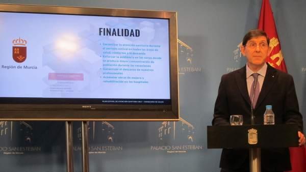 El Consejero De Salud Presenta El Plan En Rueda De Prensa