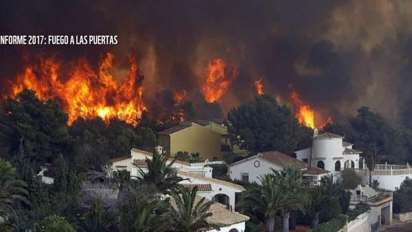 Incendio en una 'interfaz'