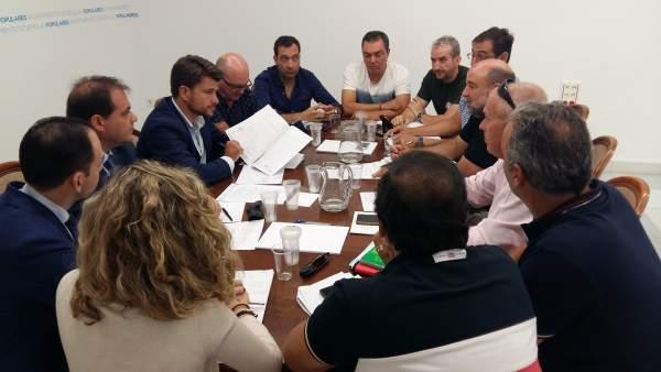 Reunión del PP con sindicatos municipales