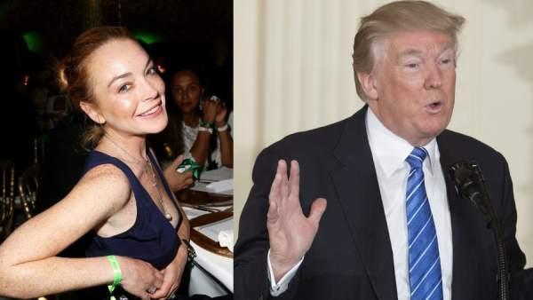 Lindsay Lohan y Donald Trump