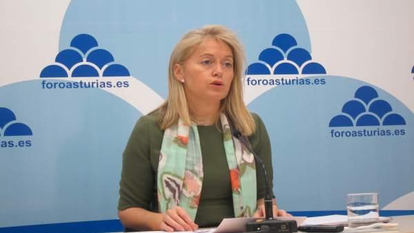 La presidenta de Foro Asturias, Cristina Coto.