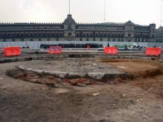 Hallazgo arqueológico en el 'Zócalo' de Ciudad de México