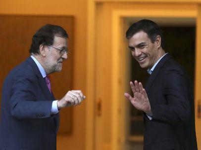 Rajoy y Sánchez se reúnen en Moncloa