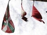 Tres banderas en Pamplona