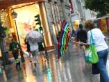 Lluvia en Madrid.