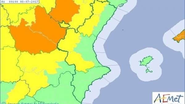 El interior de Valencia y Castellón están en aviso amarillo