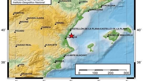 Registrat de matinada un terratrèmol de 2,8 graus en el Golf de València