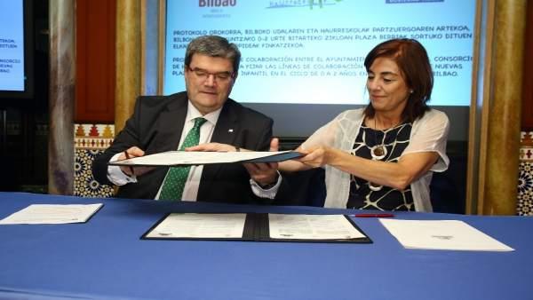 Juan María Aburto y Cristina Uriarte