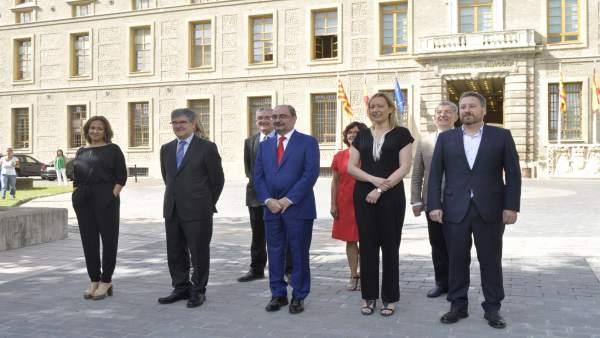 Foto de familia del Gobierno de Aragón.