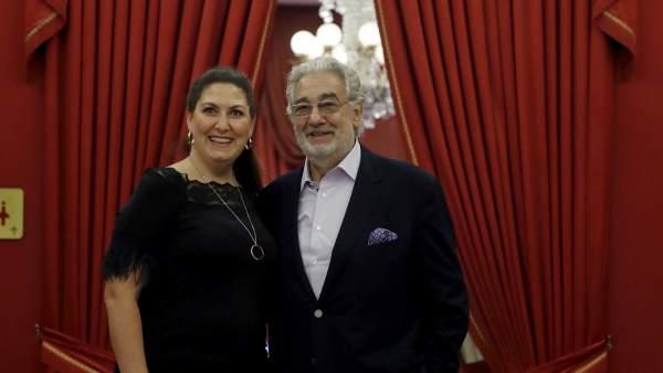 Plácido Domingo y Anna Pirozzi