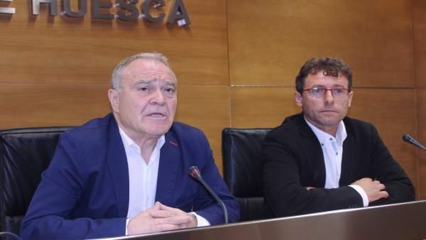 Miguel Gracia y Marco Ibarz, de la Diputación Provincial de Huesca