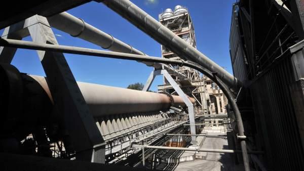 Horno de la factoría de Cementos Cosmos en Córdoba