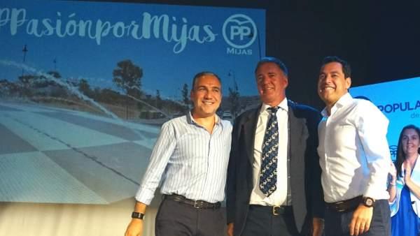 Bendodo, Nozal y Moreno (PP) Mijas