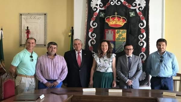 Gallardo visita Solana de los Barros