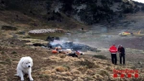 La cabaña de pastor de Lladorre se quemó en 2016