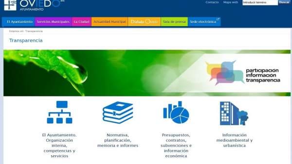 Portal de transparencia del Ayuntamiento de Oviedo