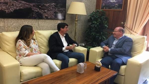 Reunión entre Juan Marín y el alcalde de Jaén