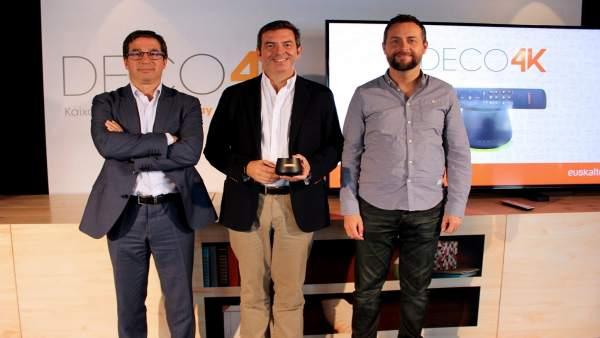 Presentación del Deco4K de Euskaltel