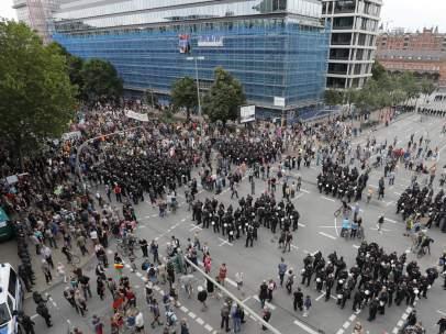 Manifestación en la cumbre del G-20