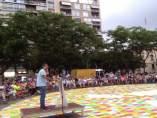 El presidente de Òmnium, Jordi Cuixart, en Reus (Tarragona)