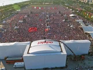 Marcha opositora en Turquía