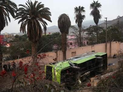 Accidente de autobús en Lima