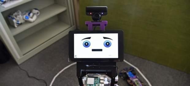 Prototipo del robot que detecta emociones.