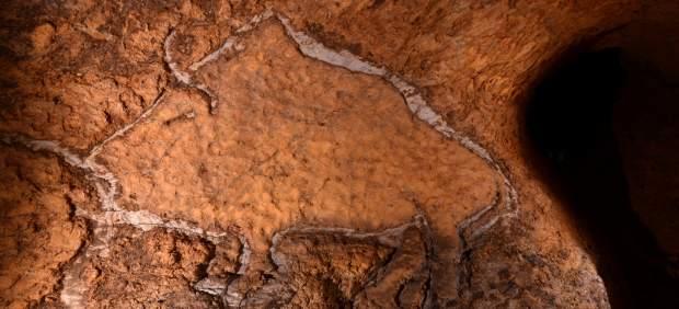 Representación de un bisonte en Aitzbitarte