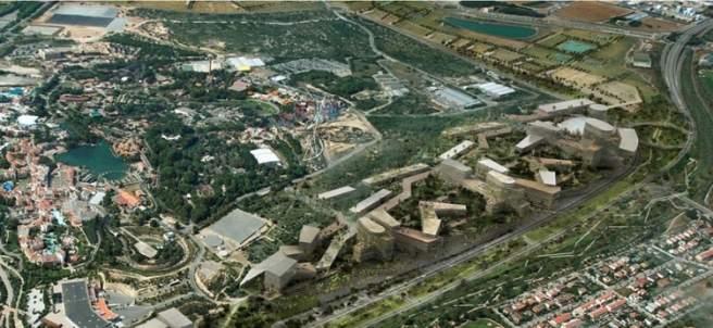 Proyección virtual del futuro Centro Recreativo y Turístico de Vila-seca y Salou.