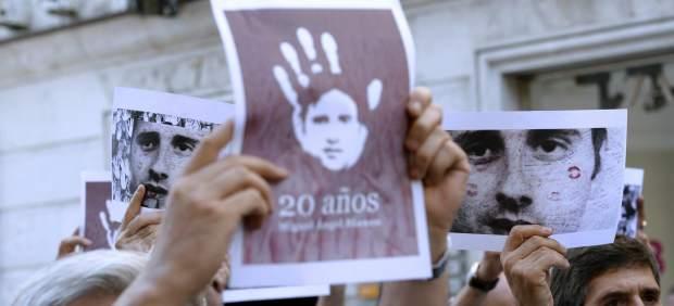 Acto de homenaje a Miguel Ángel Blanco en Valladolid.