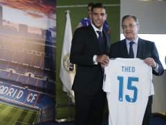Theo Hernández y Florentino Pérez