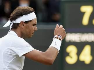 Rafa Nadal en Wimbledon.