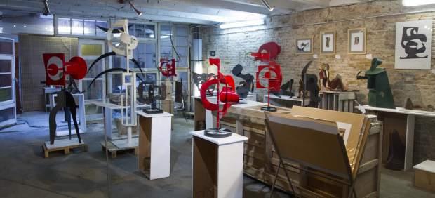 Imagen del taller de Pablo Bruera, ubicado en Barcelona