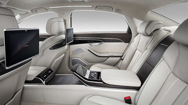 Plazas traseras del Audi A8