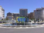 Rotonda con pantalla led en Vigo