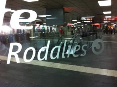 Una de las estaciones de cercanías de Barcelona.