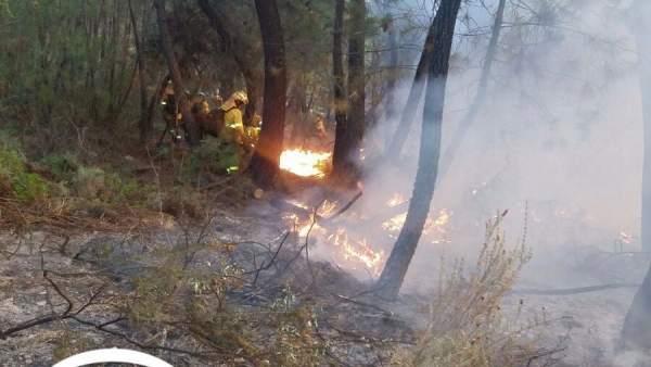 Incendio en Calañas (Huelva)