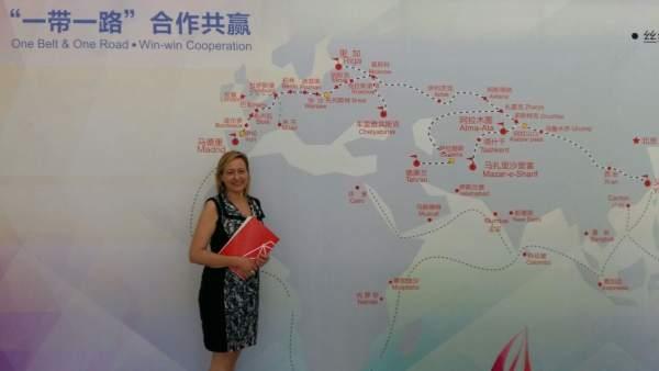 Marta Gascón en China