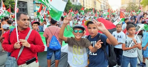 Marcha por la Paz, en apoyo al pueblo saharui