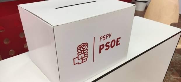 Urna de votación en las primarias del PSPV